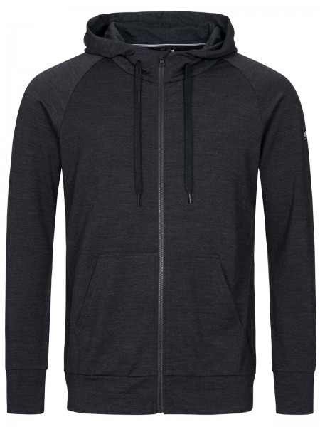 super.natural Essential Zip Hoodie Men Sweat Merino
