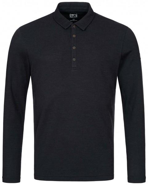 super.natural Wayfarer LS Polo Shirt Men Merino